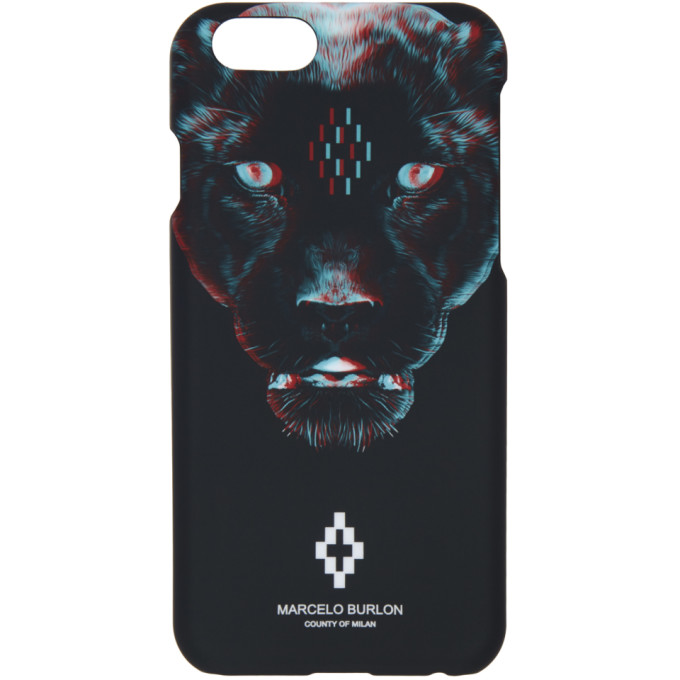 Marcelo Burlon County of Milan ブラック Rufo iPhone 6 ケース