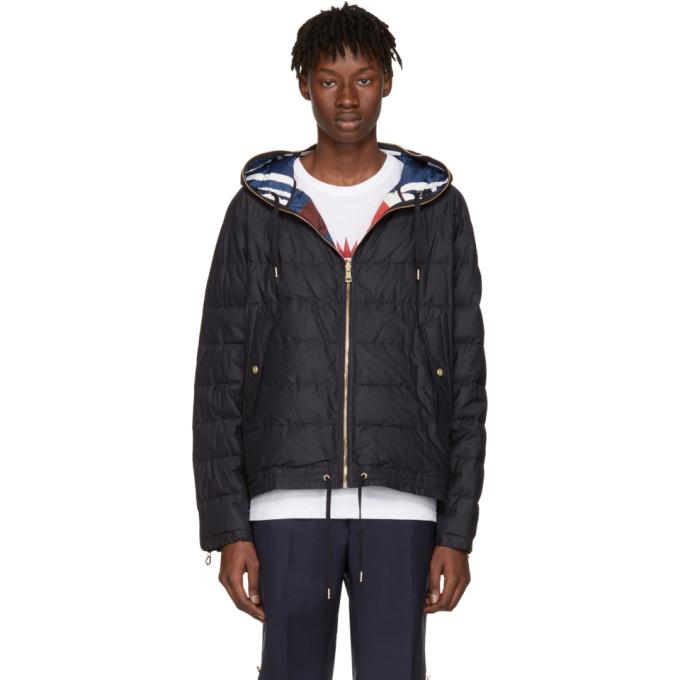 Moncler Gamme Bleu Reversible Navy Down Jacket