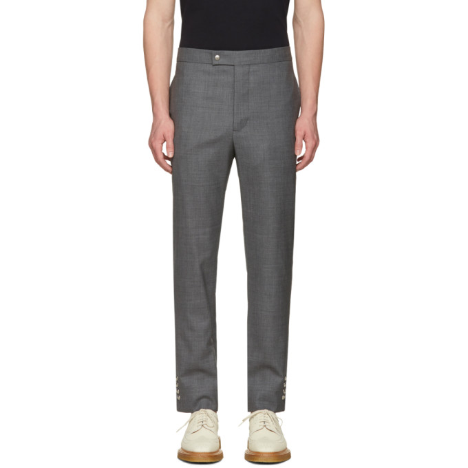 Moncler Gamme Bleu Grey Button Cuff Trousers