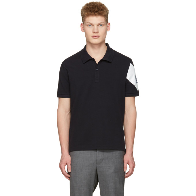 Moncler Gamme Bleu Navy Arm Patch Polo