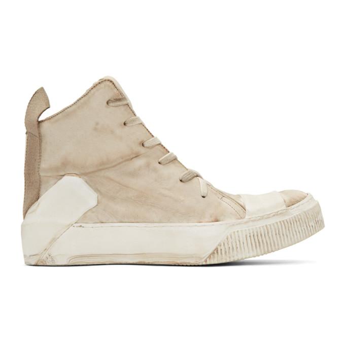 Image of Boris Bidjan Saberi Off-White Bamba 1 High-Top Sneakers