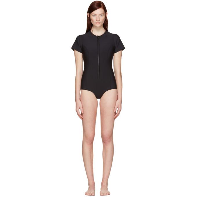 Image of Lisa Marie Fernandez Black Farrah Swimsuit
