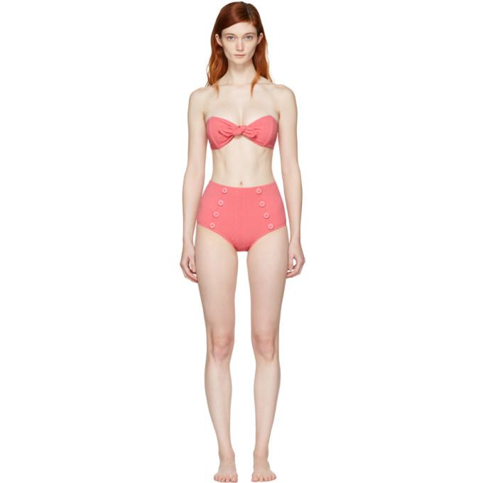 lisa marie fernandez female lisa marie fernandez pink poppy highwaisted bikini