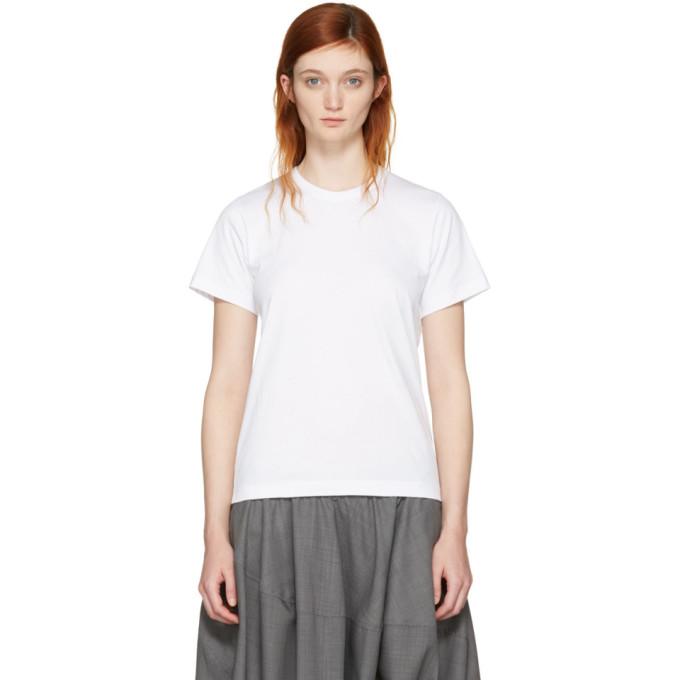 Image of Comme des Garçons Comme des Garçons White Cotton T-Shirt
