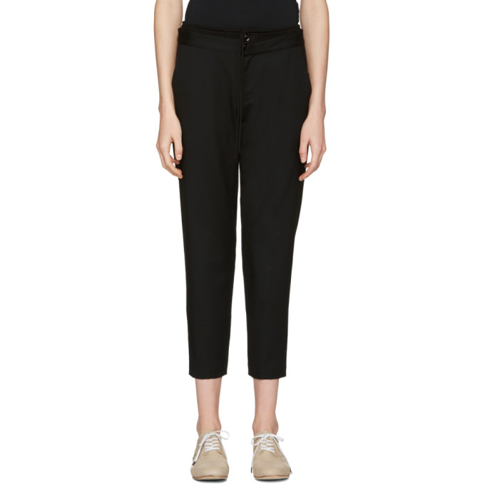Y's Black Double Waistband Trousers