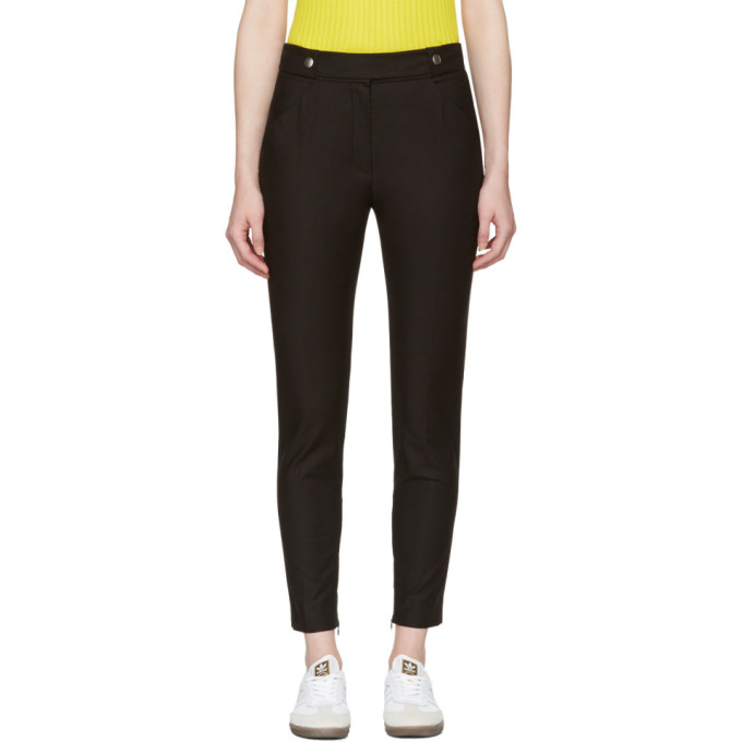 Image of Courrèges Black Button Belt Trousers