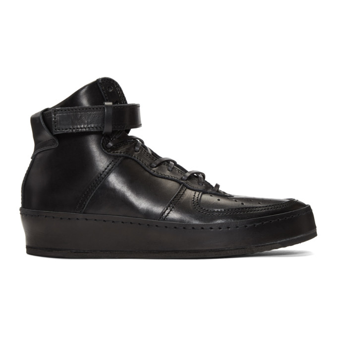 Image of Hender Scheme Black Manual Industrial Products 01 High-Top Sneakers