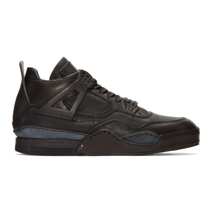 Image of Hender Scheme Black Manual Industrial Products 10 High-Top Sneakers