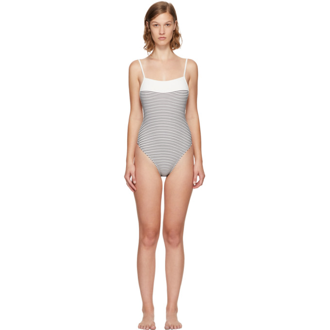 Solid & Striped White & Navy The Chelsea Swimsuit