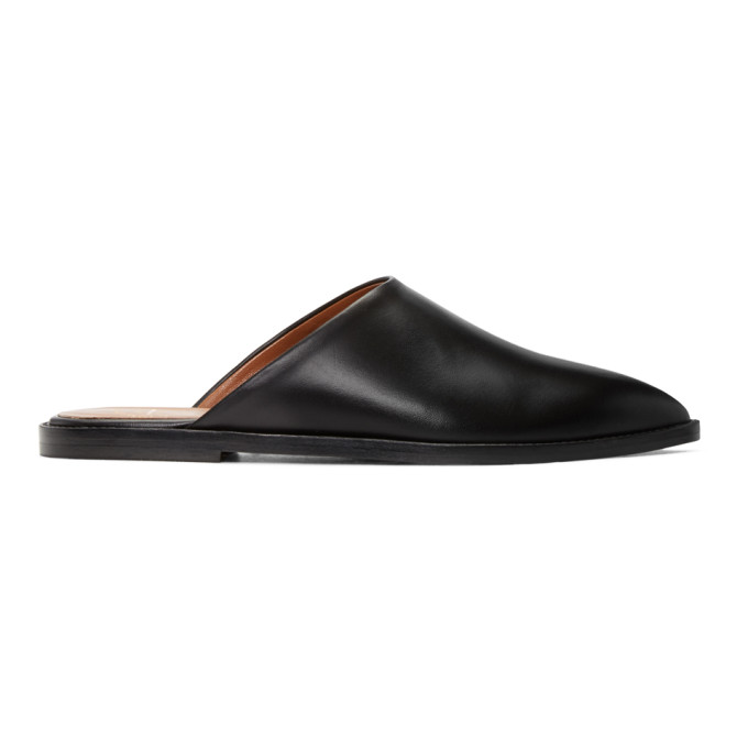 Image of ATP Atelier Black Anzi Slip-On Flats
