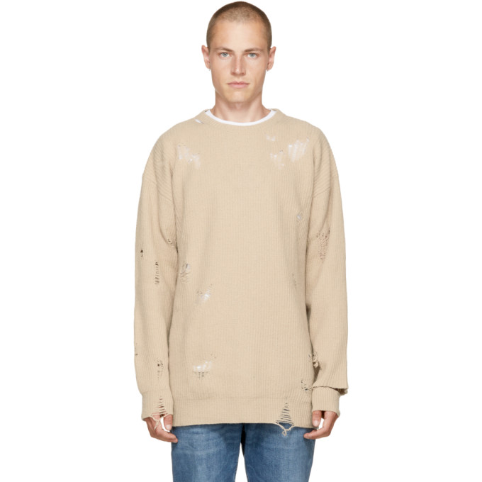 Image of Diesel Beige Distressed K-LOL Sweater