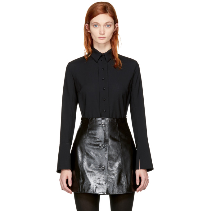 Image of Olivier Theyskens Black Taylor Shirt