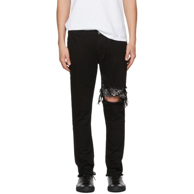Image of 424 Black Repair Jeans