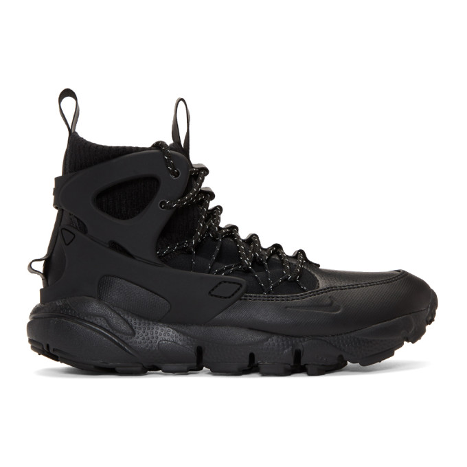 Image of Nike Black Air Footscape Mid Utility Sneakers