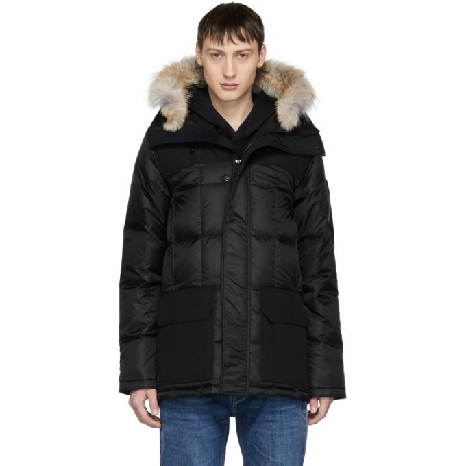 Image of Canada Goose Black 'Black Label' Down & Fur Callaghan Parka