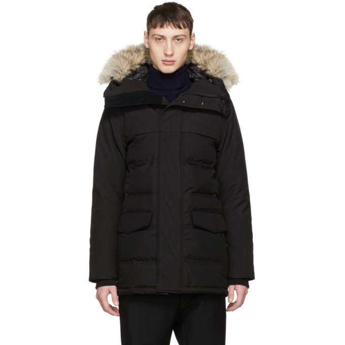 Image of Canada Goose Black Down 'Black Label' Clarence Parka