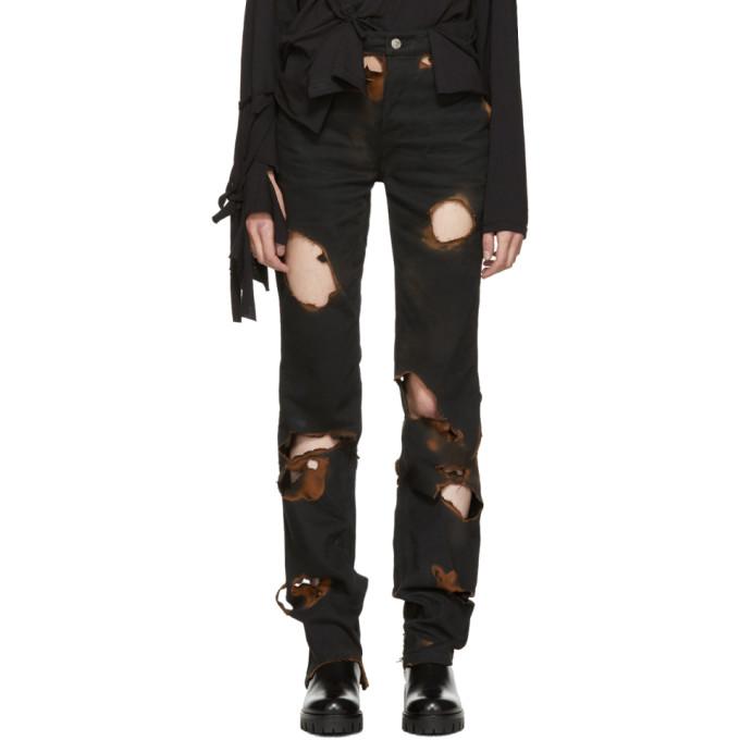 Image of Ottolinger Black Burned Holes Jeans