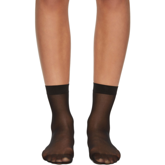 Image of Wolford Black Individual 10 Socks