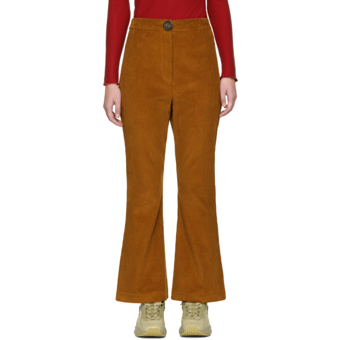 Image of A.W.A.K.E. Brown Corduroy Octopus Trousers