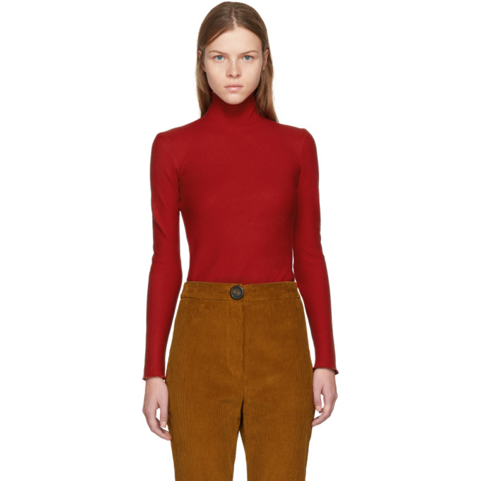 Image of A.W.A.K.E. Red Sleek Octopus Turtleneck