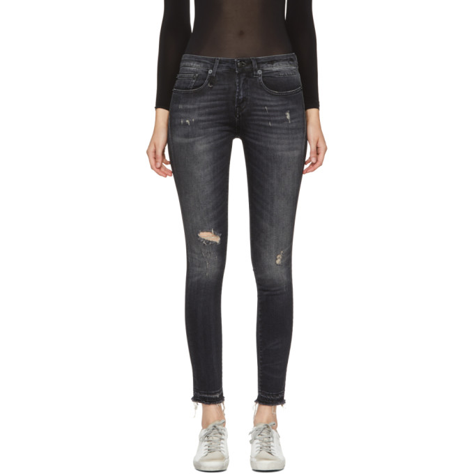 Image of R13 Black Alison Crop Jeans