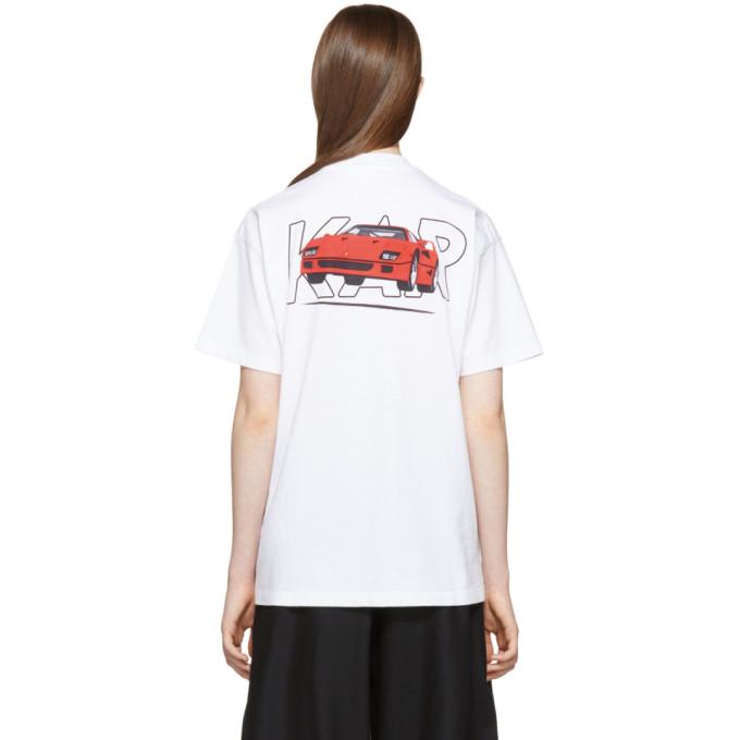 Image of KAR / L'Art de L'Automobile White Fly Ferrari T-Shirt