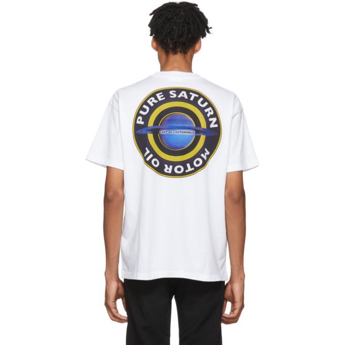Image of KAR / L'Art de L'Automobile White Pure Saturn T-Shirt