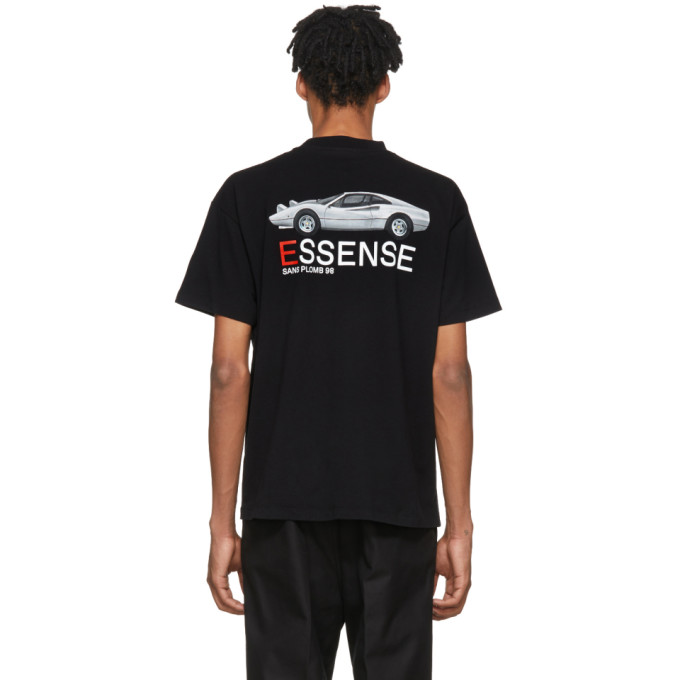 Image of KAR / L'Art de L'Automobile SSENSE Exclusive Black Ferrari T-Shirt