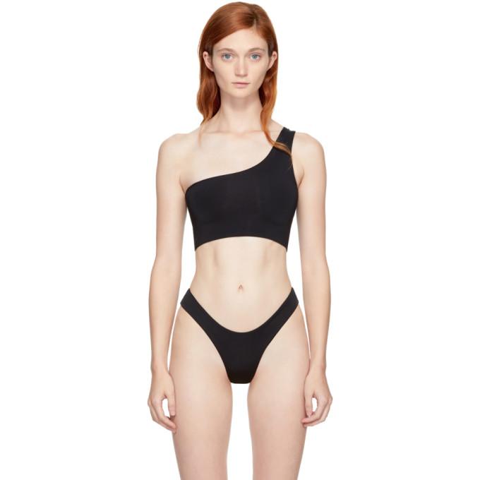 Image of Myraswim Black Ford Single-Shoulder Bikini Top