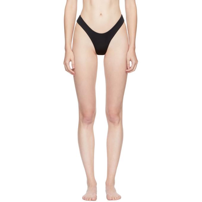 Image of Myraswim Black Ivana Thong Bikini Bottoms