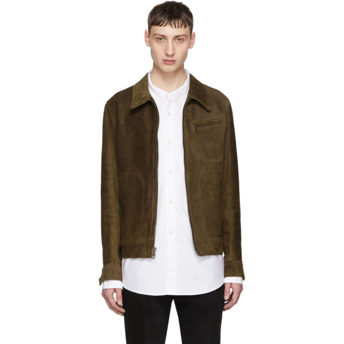 Image of Schott Brown Suede Duke Jacket