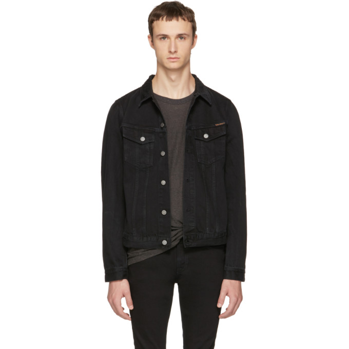 Image of Nudie Jeans Black Denim Billy Jacket