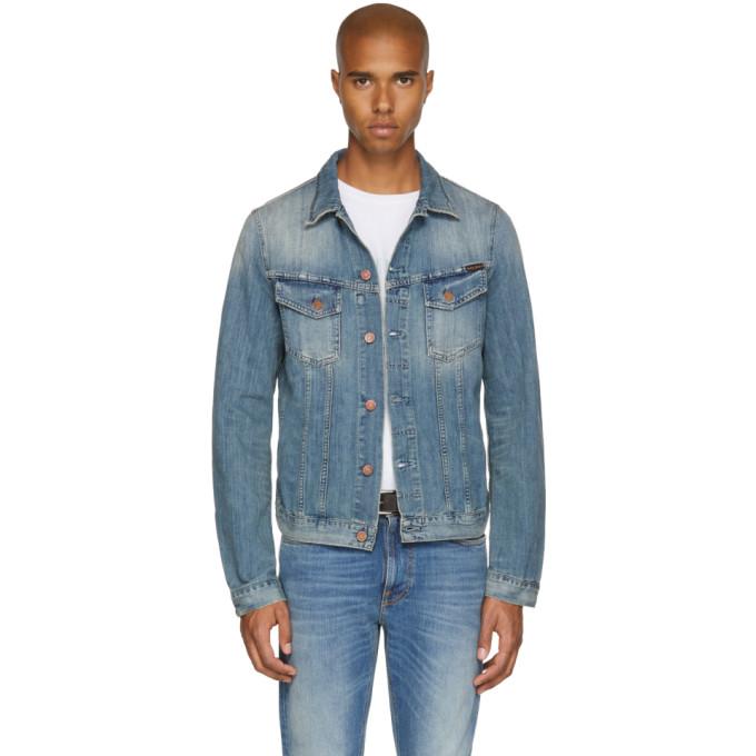 Nudie Jeans ブルー デニム ビリー ジャケット