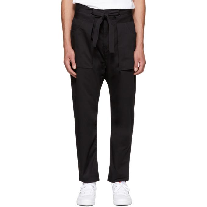 Image of Diesel Black Gold Black Kimono Trousers