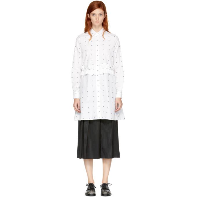 McQ Alexander McQueen White Swallow Shirt Dress