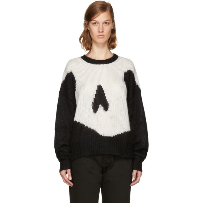 McQ Alexander McQueen Black Giant Swallow Sweater