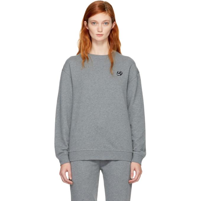 McQ Alexander McQueen Grey Swallow Badge Sweatshirt