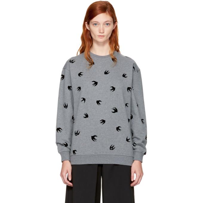 McQ Alexander McQueen Grey Micro Swallow Sweatshirt