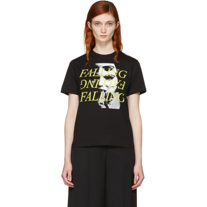 McQ Alexander McQueen Black Falling T-Shirt