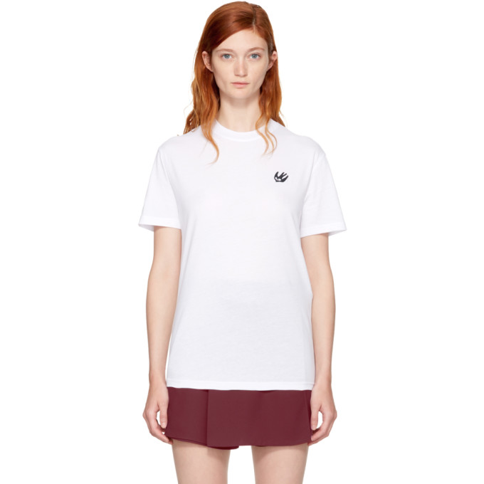 McQ Alexander McQueen White Swallow Badge Classic T-Shirt