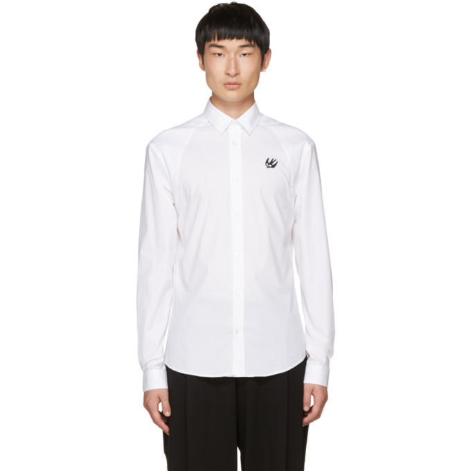 McQ Alexander McQueen White Harness Swallow Shirt
