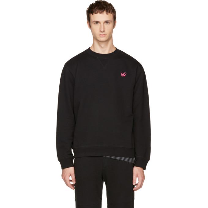 McQ Alexander McQueen Black Swallow Badge Sweatshirt