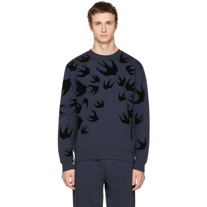 McQ Alexander McQueen Navy Swallows Sweatshirt