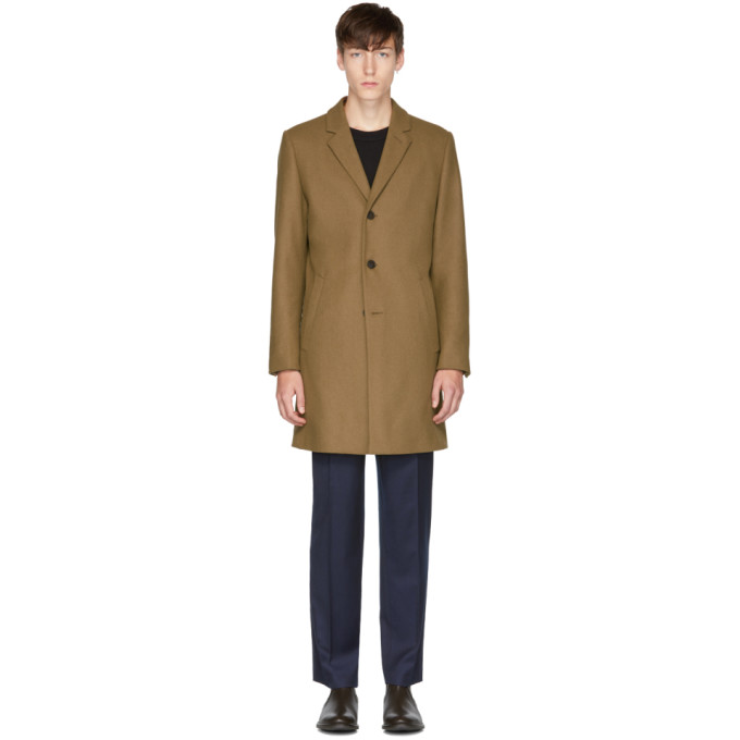 Image of Tiger of Sweden Beige Dempsey 18 Coat