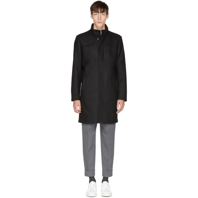 Image of Tiger of Sweden Black Egal 4 Coat