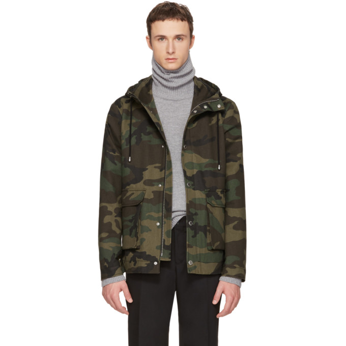 Image of Tiger of Sweden Green Camo Mirto Jacket