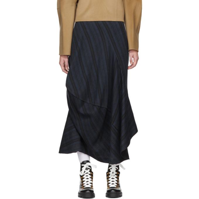 Acne Studios Blue Suse Rustic Asymmetric Skirt
