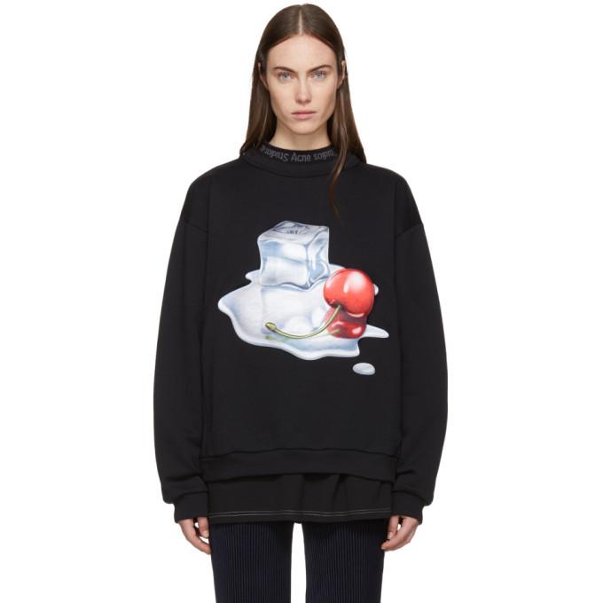 Acne Studios Black Spilled Cocktail Flames Sweatshirt