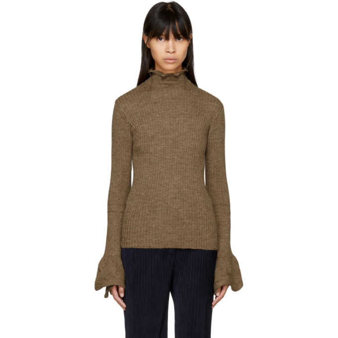 Acne Studios Brown Raine Open Back Turtleneck