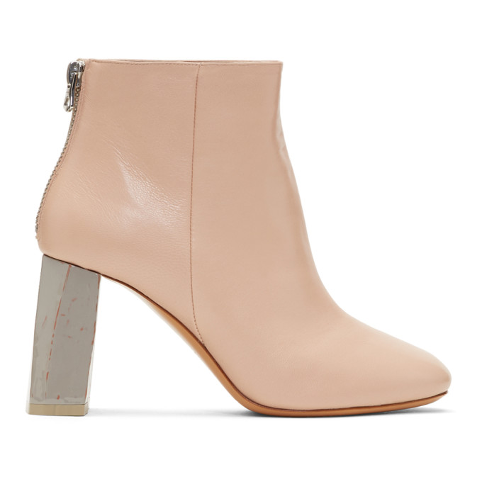 Acne Studios Pink & Grey Claudine Boots
